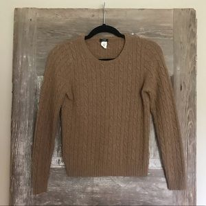 Jcrew medium brown sweater knit